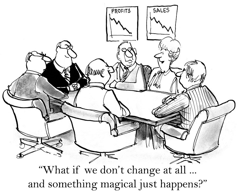 Cartoon about resisting change
