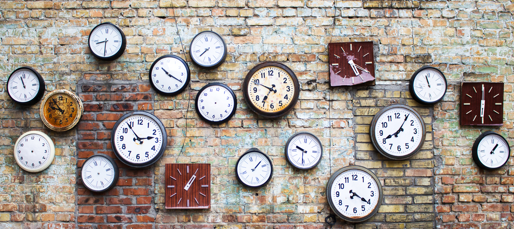 Collection of vintage clocks